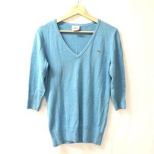 Lacoste Sz 40 Sz 8 Cotton cashmere v-neck sweater